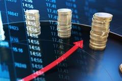 Índice do tempo e dos dados econômicos imagem de stock royalty free