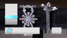 Índice imaginário da joia da prata da televisão das compras ao domicílio vídeos de arquivo