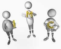 Índice total corporal ilustración del vector