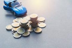 Índices financieros comunes con la moneda de la pila Mercado de acción financiero Foto de archivo libre de regalías