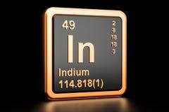 Índio no elemento químico rendição 3d Ilustração Royalty Free