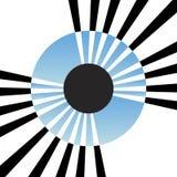 Íris abstrata do olho ilustração stock