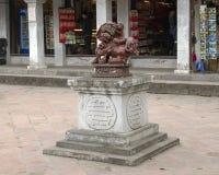 Άγαλμα δαιμόνων, 4ο προαύλιο, ναός της λογοτεχνίας, Ανόι Βιετνάμ στοκ φωτογραφία με δικαίωμα ελεύθερης χρήσης