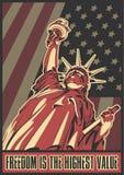 Άγαλμα της πατριωτικής αφίσας ελευθερίας στοκ εικόνα