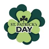 Άγιος Πάτρικ απομόνωσε τις ιρλανδικές παραδοσιακές διακοπές τριφυλλιού εικονιδίων ελεύθερη απεικόνιση δικαιώματος
