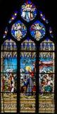 Άγιος Vincent de Paul - λεκιασμένο γυαλί στο Παρίσι στοκ φωτογραφίες