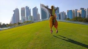 Άλμα γυναικών οριζόντων Doha απόθεμα βίντεο