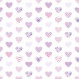 Άνευ ραφής γεωμετρικό διανυσματικό σχέδιο με τις καρδιές στοκ φωτογραφίες με δικαίωμα ελεύθερης χρήσης
