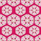 Άνευ ραφής διανυσματικό σχέδιο με την ασιατική γεωμετρική διακόσμηση στοκ εικόνα