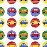 Άνευ ραφής σχέδιο με τα φωτεινά σύγχρονα αυτοκίνητα ελεύθερη απεικόνιση δικαιώματος