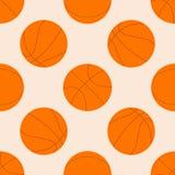 Άνευ ραφής σχέδιο με τη σφαίρα καλαθοσφαίρισης επίσης corel σύρετε το διάνυσμα απεικόνισης Ιδανικό για την ταπετσαρία, κάλυψη, πε ελεύθερη απεικόνιση δικαιώματος