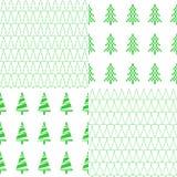 Άνευ ραφής σχέδιο με το χριστουγεννιάτικο δέντρο Ένα σύνολο οκτώ σχεδίων διάνυσμα ελεύθερη απεικόνιση δικαιώματος