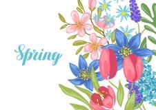 άνοιξη λουλουδιών ανασ&kap διανυσματική απεικόνιση