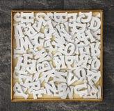Άσπρες επιστολές παιχνιδιών στοκ φωτογραφία με δικαίωμα ελεύθερης χρήσης