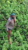 Άτομο μπανανών στοκ φωτογραφία
