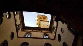 Άποψη από το δεύτερο προαύλιο Palazzo Vecchio, Φλωρεντία, Τοσκάνη, Ιταλία στοκ φωτογραφία με δικαίωμα ελεύθερης χρήσης
