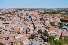 Άποψη εικονικής παράστασης πόλης του Τολέδο, Ισπανία στοκ φωτογραφία με δικαίωμα ελεύθερης χρήσης