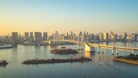 Άποψη κόλπων του Τόκιο από Odaiba χρονικό σφάλμα του Τόκιο, Ιαπωνία απόθεμα βίντεο