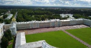 Άποψη με την κορυφή από τον κηφήνα στην αίθουσα παλατιών της Katherine ` s σε Tsarskoe Selo Pushkin, Ρωσία φιλμ μικρού μήκους
