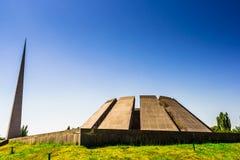 Άποψη σχετικά με αρμενικό αναμνηστικό το σύνθετο γενοκτονίας σε Jerevan, Αρμενία στοκ εικόνες