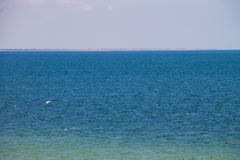 Άποψη σχετικά με τη Azov θάλασσα στοκ εικόνες