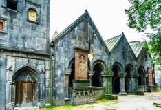 Άποψη σχετικά με το μοναστήρι Sanahin στο χωριό Sanahin, Alaverdi, Lori, Αρμενία στοκ εικόνα