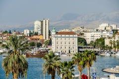 Άποψη της διασπασμένης πόλης Spalato στην Κροατία, Ευρώπη στοκ φωτογραφία με δικαίωμα ελεύθερης χρήσης