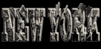 Άποψη του Μανχάταν σχετικά με τη Νέα Υόρκη με την ανακούφιση διανυσματική απεικόνιση