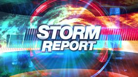 Έκθεση θύελλας - τίτλος γραφικής παράστασης TV ραδιοφωνικής μετάδοσης διανυσματική απεικόνιση