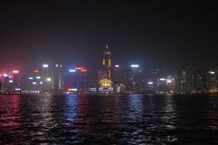 έκδοση νύχτας του Χονγκ Κονγκ στοκ φωτογραφίες με δικαίωμα ελεύθερης χρήσης