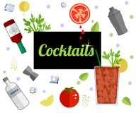 Έμβλημα επιλογών φραγμών ποτών οινοπνεύματος απεικόνιση αποθεμάτων