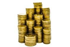 Ένας μεγάλος σωρός των ουκρανικών νομισμάτων 50 και 25 καπικιών στοκ φωτογραφία με δικαίωμα ελεύθερης χρήσης
