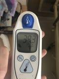 Ένα θερμόμετρο στοκ φωτογραφίες με δικαίωμα ελεύθερης χρήσης