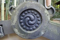 ένα ιαπωνικό σημάδι σε μια πέτρα στοκ φωτογραφία με δικαίωμα ελεύθερης χρήσης