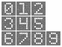 Ένα σύνολο αριθμητικών χαρακτήρων Τυποποιημένοι αριθμοί μέσα σε έναν σύνθετο λαβύρινθο ελεύθερη απεικόνιση δικαιώματος