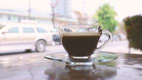 Ένα φλιτζάνι του καφέ απόθεμα βίντεο