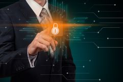 Έννοια ιδιωτικότητας επιχειρησιακής τεχνολογίας προστασίας δεδομένων ασφάλειας Cyber στοκ φωτογραφίες με δικαίωμα ελεύθερης χρήσης