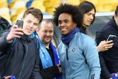 Ένωση UEFA Ευρώπη Δυναμό Kyiv β Chelsea Κατάρτιση προ-αντιστοιχιών στοκ φωτογραφία με δικαίωμα ελεύθερης χρήσης