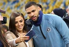 Ένωση UEFA Ευρώπη Δυναμό Kyiv β Chelsea Κατάρτιση προ-αντιστοιχιών στοκ φωτογραφίες