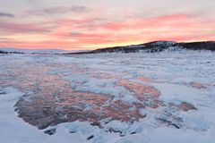 Έρημος χιονιού Tundra στοκ εικόνα με δικαίωμα ελεύθερης χρήσης