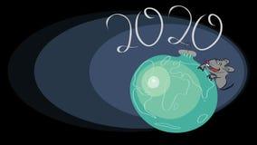 έτος του 2020 του αρουραίου ελεύθερη απεικόνιση δικαιώματος
