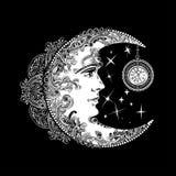 Ήλιος φεγγαριών αλχημείας απεικόνιση αποθεμάτων