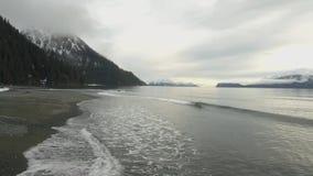 Ήρεμες θάλασσες στην Αλάσκα απόθεμα βίντεο