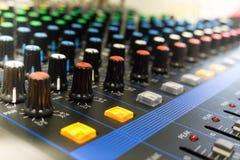 ήχος επιτροπής αναμικτών ελέγχου στοκ φωτογραφία