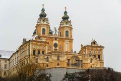 Αβαείο Melk στον ποταμό Δούναβη στην Αυστρία στοκ φωτογραφίες με δικαίωμα ελεύθερης χρήσης