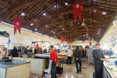 Αγορά κρέατος στην Τυνησία, Τυνησία στοκ εικόνα