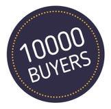 Αγοραστές δέκα χιλιάδων που διαφημίζουν την αυτοκόλλητη ετικέττα απεικόνιση αποθεμάτων