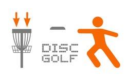 Αθλητικό σύμβολο γκολφ δίσκων στοκ φωτογραφίες με δικαίωμα ελεύθερης χρήσης