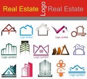 Ακίνητη περιουσία, λογότυπο κτηρίου και οικοδόμησης απεικόνιση αποθεμάτων