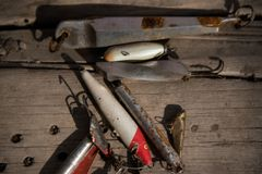Αλιεύοντας λεπίδες αλιείας στοκ εικόνα με δικαίωμα ελεύθερης χρήσης